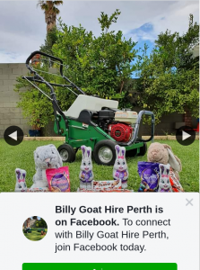 Billy Goat Hire Perth – Win $100 Coles Group Gift Card
