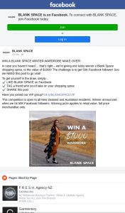 Blank Space – Win a Blank Space Winter Wardrobe Make-Over (prize valued at $1,000)