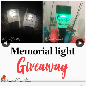 Cariad Creations – Win a Personalised Solar Memorial Light (prize valued at $12)