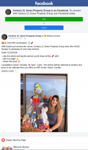 Century 21 – Win an Easter Hamper Must Collect)(closes 12pm