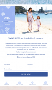 Cheeky Chickadee – Win $1000 Worth of Clothing & Swimwear (prize valued at $1,000)