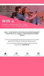Cherrii – Win a 12-month Subscription to Netflix