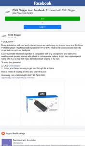Child Blogger – Win a Laser Bluetooth Speaker