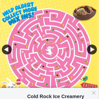 Cold Rock Ice Creamery – Win 1 of 2 $100 Cold Rock Gift Cards