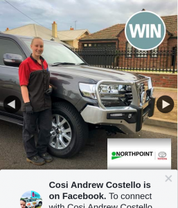 Cosi Andrew Costello – Win a Contactless Car Service (prize valued at $200)