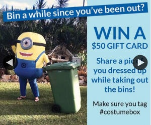 Costume Box – Win Post a Pic of You Or The Kids Dressed Up While Taking Out The Bins