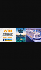 Cruise Megastore – Win The Cruise Holiday Package for Two Adults (prize valued at $4,864)
