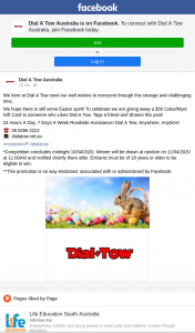 Dial a Tow – Win a $50 Coles/myer Gift Card