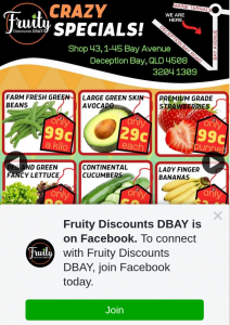 Fruity Discounts DBay – Win $100 to Spend In Store