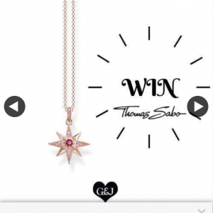 Gems and Jewels – Win this Stunning Magic Star Thomas Sabo (sterling Silver 18k Rose Gold Plated) Necklet Valued at $269.00 (prize valued at $269)