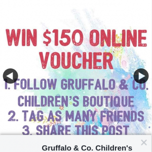 Gruffalo & Co Children's Boutique – Win $150 Online Voucher ⭐️ (prize valued at $150)