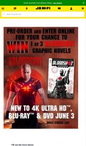 JB HiFi Pre-order Bloodshot to – Win 1 of 3 Bloodshot Graphic Novels (prize valued at $150)