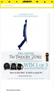 JB HiFi Pre-order The Twilight Zone to – Win 1 of 3 Merchandise Packs (prize valued at $342)