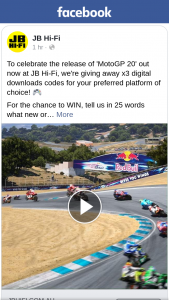 JB HiFi – Win One of Three Motogp 20 Digital Codes