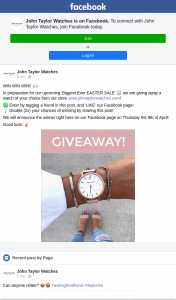 John Taylor Watches – Win a Watch