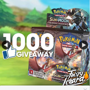 1000 LIKE GIVEAWAY BURNING SHADOWS BOOSTER BOX – Win The Feisty Lizzard