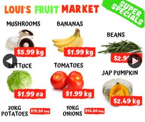 Louis Booval Fruit Market – Win $50 Fruit/veg Tray