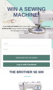 Madam Sew – Win this Brand New Brother Se 600 Sewing Machine