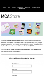 MCA Store – Win Products to Help Keep Your Kids Creative (prize valued at $159.84)
