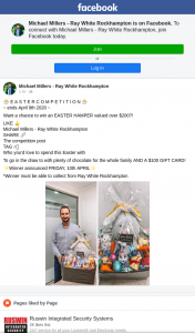 Michael Millers Ray White Rockhampton – Win an Easter Hamper Valued Over $200? (prize valued at $300)