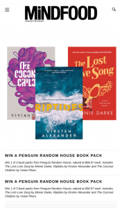 MindFood – Win 1 of 3 Book Packs From Penguin Random House (prize valued at $98.97)