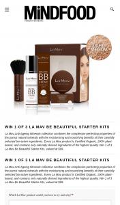 MindFood – Win 1 of 3 La Mav Be Beautiful Starter Kits (prize valued at $99)