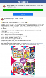 Mum Central – Win 1/4 Ugames Entertainment Packs