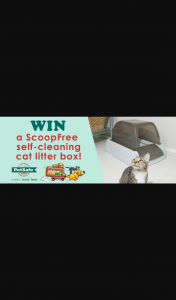 MyGC – Win a Scoopfree Self Cleaning Cat Litter Box (prize valued at $720)