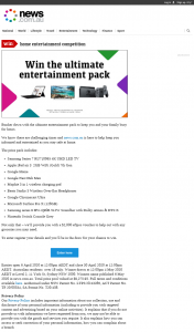 News Life Media – Win a Home Entertainment Prize Package (prize valued at $9,275.95)