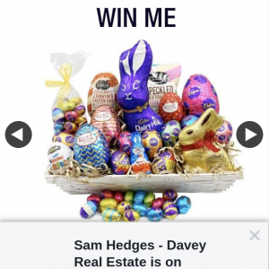 Sam Hedges – Win an Easter Hamper