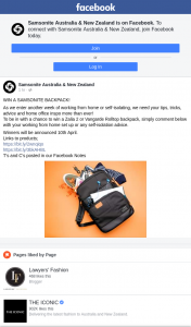 Samsonite Australia & New Zealand – Win a Samsonite Backpack