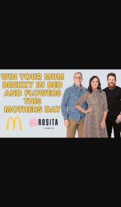 SCA Triple M Brisbane – Win Your Mum Brekky In Bed and Flowers