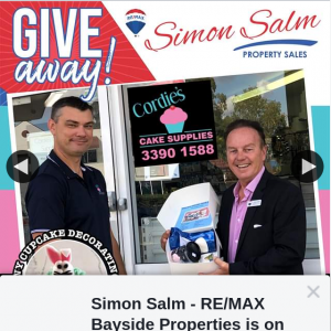 Simon Salm Re-Max Bayside Properties – Win a Kids Bunny Cupcake Decorating Kit From Cordie's Cake Supplies