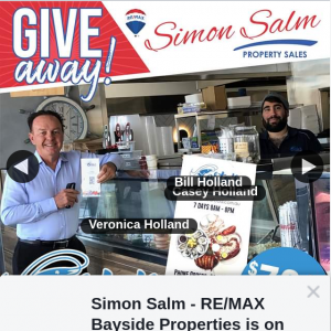 Simon Salm RE-Max Bayside Properties – Win a $79.95 Voucher From Costas Seafood Cafe (prize valued at $79)