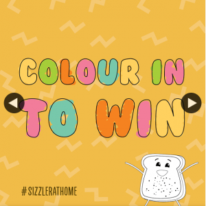 Sizzler – Win Kids Salad Bar to Go Vouchers Colour In Entry