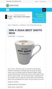 SSAA – Win a Ssaa Best Shots Mug
