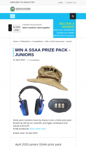 SSAA – Win a Ssaa Prize Pack (prize valued at $119.85)