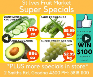 St Ives Fruit Market – Win Our Weekly $100 Spend In Store Prize (prize valued at $100)