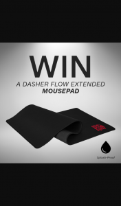 Thermaltake ANZ – Win a Dasher Flow Extended Mouse Pad (prize valued at $45)