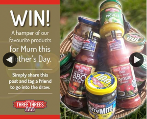 Three Threes Condiments – Win a Three Threes Hamper for Mother's Day