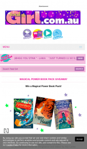 Total Girl – Win a Magical Power Book Pack (prize valued at $528)
