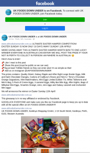 UK Foods Downunder – Win The Ultimate Easter Hamper (prize valued at $250)
