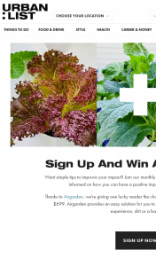 Urban List – Win an Airgarden (prize valued at $699)