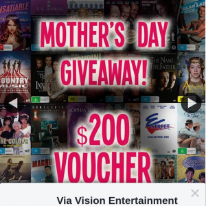 Via Vision Entertainment – Win a $200 Gift Voucher (prize valued at $200)
