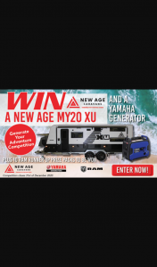 What's Up Downunder – Parable Productions – Win an My20 Xtreme Utility Bunk Combo Toy Hauler & Yamaha Generator (prize valued at $78,990)