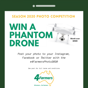 4Farmers – Win a Phantom Drone  valued at $1,500