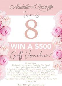 Arabella and Rose – Win a $500 voucher