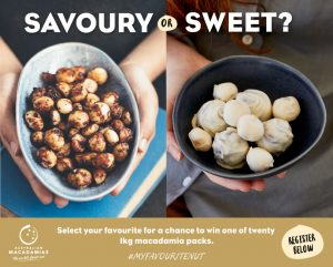 Australian Macadamias – Win 1 of 20 prizes of 1 kilo of macadamias delivered to your door