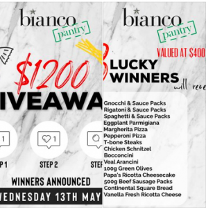 Bianco Pantry – Win 1 of 3 prize packs valued at $400 each