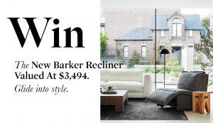 Coco Republic – Win the Estancia Leather Co. Barker Recliner Chair
